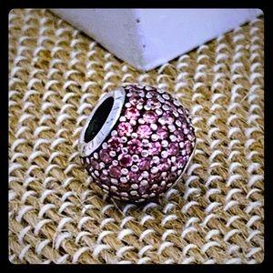 Authentic Pandora Pave Lights Fancy Pink Charm